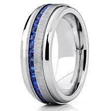 mens blue wedding bands men s eternity titanium wedding band engagement ring w