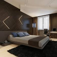 Dark Accent Wall In Small Bedroom Modern Wall Covering Ideas Backlit Trees Art And Yellow Bed Sheet