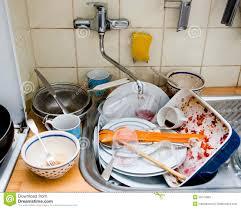 Messy Kitchen Sink Stock Photos Image - Dirty kitchen sink