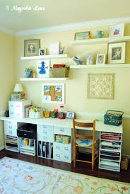 Craft Room Makeovers - a pretty and organized craft room with smart storage solutions