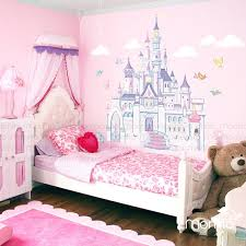 Disney Princess Castle With Colorful Birds And SquirrelLarge Wall - Disney wall decals for kids rooms