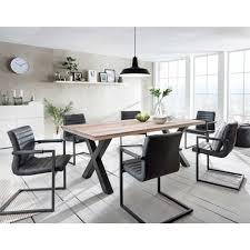 Esszimmergruppe Nussbaum Esstisch Mit Stühlen Im Loft Design Anthrazit Eiche Massiv 7
