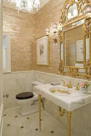 gold bathrooms powder rooms go dramatic powder room walls and gold