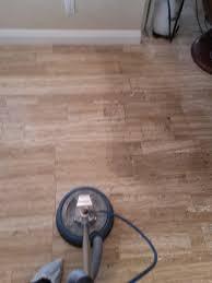 Travertine Laminate Flooring A Clean Travertine Floor Shamrock Restore