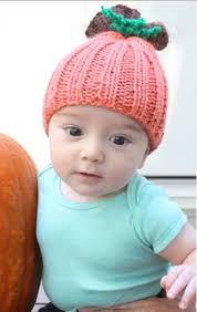 beginner pumpkin baby hat allfreeknitting