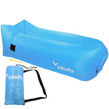 kilofly inflatable lounger waterproof portable couch beach camp