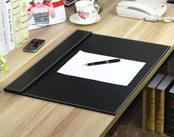 Leather Office Desk 60x45cm Wooden Leather Office Desk Organizer Writing Board File