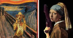 star wars characters invade classical paintings