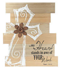 religious decorations for home wooden rectangle religious home décor plaques signs ebay