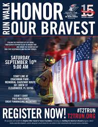 Flag Clearwater 2016 Tunnel To Towers 5k Run U0026 Walk Clearwater