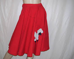 red poodle skirt etsy