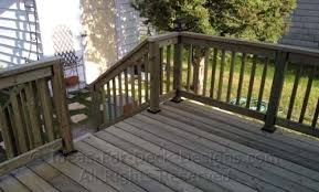 Installing Banister Building Wooden Railings Installing Wood Deck Railing Posts And