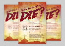 why did jesus die church flyer template inspiks market