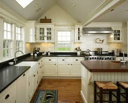 Bead Board Kitchen Cabinets Beadboard Kitchen Cabinet Kitchen Farmhouse With Stainless Range