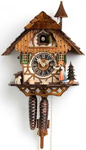 Clock Made Of Clocks by Furniture Lovely Cuckoo Clock Made Of Wood With Dog Ornament For