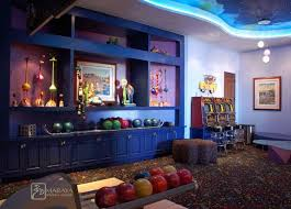 Game Room And Bowling Alley Eclectic Family Room Los Angeles - Fun family room
