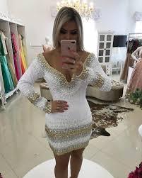 online get cheap cocktail dress white mermaid beaded aliexpress