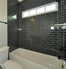 black subway tile black subway tile bathroom i like it but you will never go for it