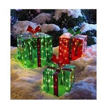 indoor lighted gift boxes nt 3 lighted gift boxes christmas decoration yard decor 150 lights