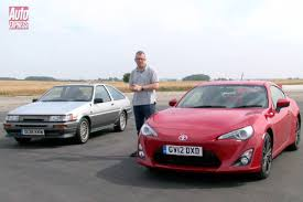 toyota full site toyota ae86 vs gt 86 video auto express