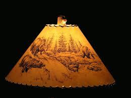 rustic bear lamp shade