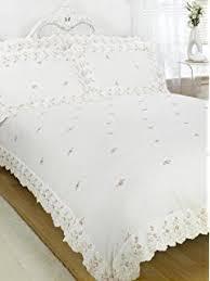 Embroidered Duvet Cover Sets Sophie Floral Lace Trim Embroidered Duvet Quilt Cover Bedding Set