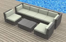 Real Wicker Patio Furniture - oahu 7pc ultra modern wicker patio set www urbanfurnishing net