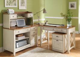 White Office Desk With Hutch Home Office Writing Desk In Pine Finish
