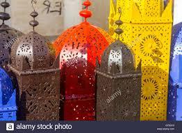 Pretty Colors Iron Lamps Arabic Style Draft Of Pretty Colors Stock Photo