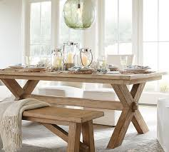 Toscana Extending Dining Table  Bench Piece Dining Set - Pottery barn dining room table