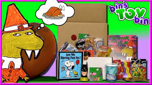 thanksgiving fun dinosaur dracula fun pack unboxing nov 2016 thanksgiving