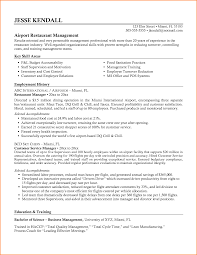 Sample Resume For Restaurant Manager by Resume For Fast Food Manager Resume For Your Job Application