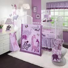 Purple Nursery Decor Adding Purple Elephants For Nursery Room Decoration Ideas