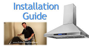 how to install a kitchen island how to install a wall mount range hood pljw 129 youtube