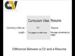 Cv Versus Resume Difference Between A Curriculum Vitae And A Resume Youtube