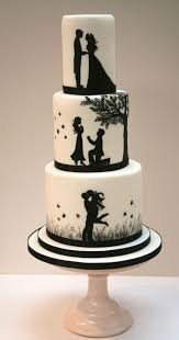 cake wedding best 25 silhouette wedding cake ideas on silhouette
