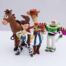 4pcs toy story 3 buzz lightyear woody jessie pvc action