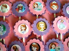 personalized cupcake toppers sofia the themed personalized cupcake toppers birthday party