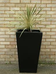cambridge tall garden planter black v2