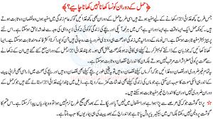 diet food list in urdu