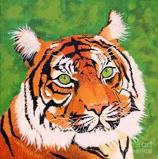 green eyed tiger painting by vicki maheu