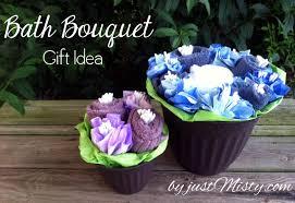 bath towel flower bouquet diy gift idea