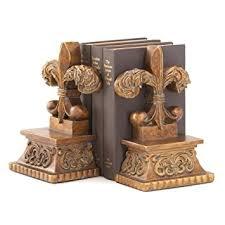Fleur De Lis Decor Amazon Com Gifts U0026 Decor Bronze Color Fleur De Lis Book End Set