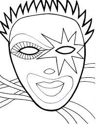 wearing mask on mardi gras fest coloring page download u0026 print