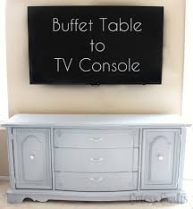 Pictures Of Buffet Tables by Buffet Table To Tv Console Cutesy Crafts