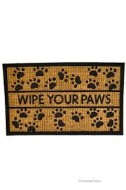 Wipe Your Paws Rubber Backed Buy Cute Funny Puppy Footprint