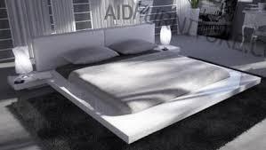 Japanese Style Platform Bed Japanese Style Platform Bed Glossy White