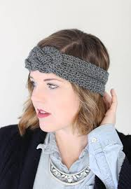 knotted headband sailor knot crochet headband free pattern lou