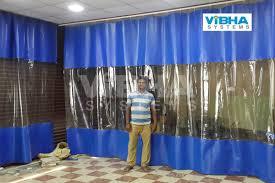 pvc strip curtains projects bangalore chennai india