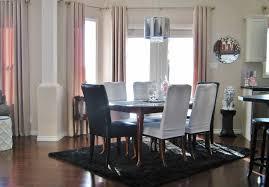 stunning black rug for elegant dining room design dining room